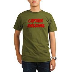 Captain Awesome Organic Men's T-Shirt (dark)