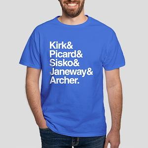 Star Trek Captains Dark T-Shirt