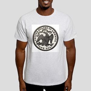 Seated Liberty Reverse Ash Grey T-Shirt