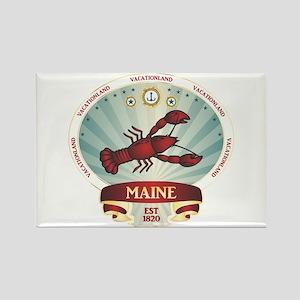 Maine Lobster Crest Rectangle Magnet