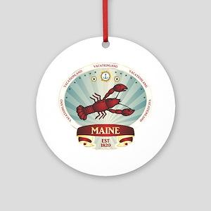 Maine Lobster Crest Ornament (Round)