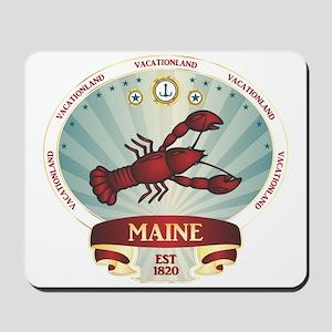 Maine Lobster Crest Mousepad