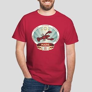 Maine Lobster Crest Dark T-Shirt