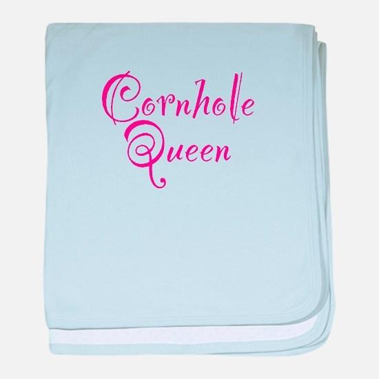 Cornhole Queen baby blanket