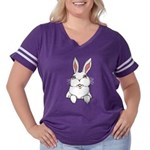 Pocket Rabbit Women's Plus Size Football T-Shi