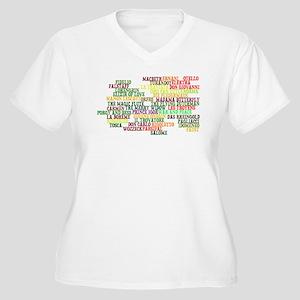 Operas Women's Plus Size V-Neck T-Shirt