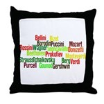 Opera Composers Throw Pillow