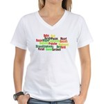 Opera Composers Women's V-Neck T-Shirt