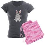 Easter Bunny Pocket Rabbit Art Women's Charcoal Pa
