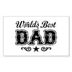 World's Best Dad Sticker (Rectangle)