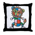 colorful lion Throw Pillow