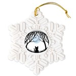 Fat Cat & Cat Lover Snowflake Ornament