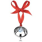 Fat Cat & Cat Lover Oval Year Ornament