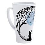 Fat Cat & Cat Lover 17 oz Latte Mug