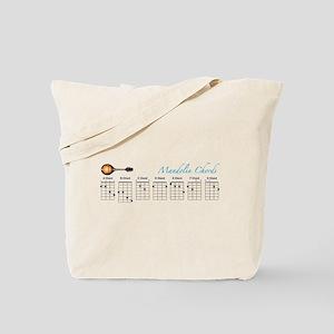 Mandolin Major Chords Tote Bag