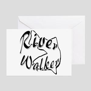 RIVER WALKER Greeting Cards (Pk of 20)