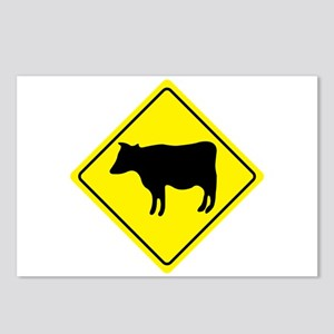 Cattle Crossing Sign Postcards (Package of 8)