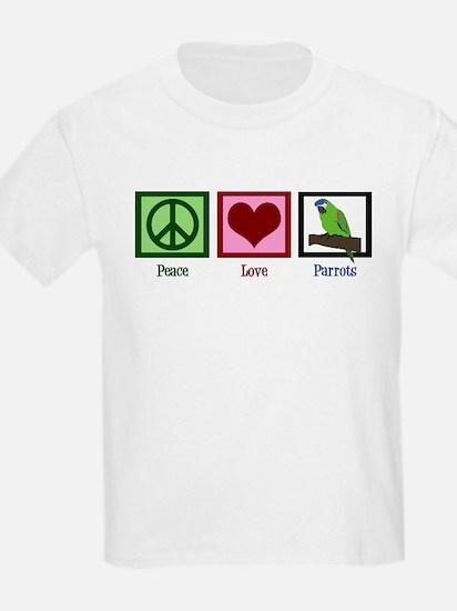 Peace Love Parrots T-Shirt