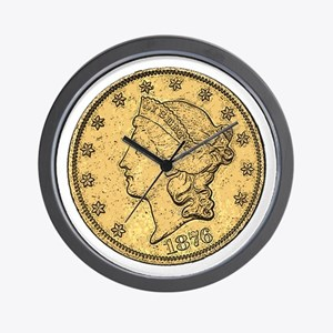 Liberty Head Double Eagle Reverse Wall Clock