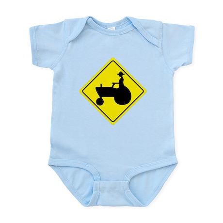 Tractor Crossing Sign Infant Bodysuit