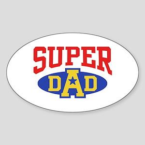 Super Dad Sticker (Oval)