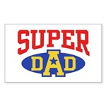 Super Dad Sticker (Rectangle)