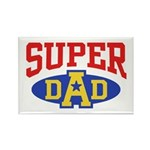 Super Dad Rectangle Magnet