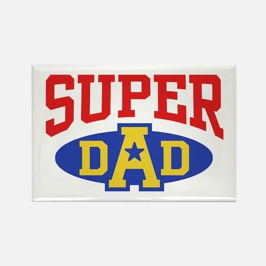 Super Dad Rectangle Magnet