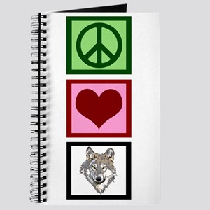 Peace Love Wolves Journal