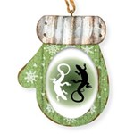 Lizard Art Mitten Ornament