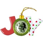 Lizard Art Joy Ornament