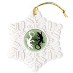 Lizard Art Snowflake Ornament