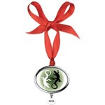 Lizard Art Oval Year Ornament