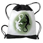 Lizard Art Drawstring Bag