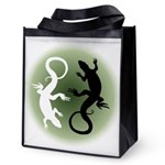 Lizard Art Reusable Grocery Tote Bag