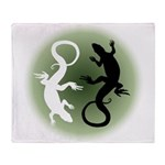 Lizard Art Arctic Fleece Throw Blanket