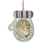 Shiba Inu Dog Art Mitten Ornament