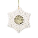 Shiba Inu Dog Art Snowflake Ornament