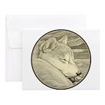Shiba Inu Dog Art Notecards (Set of 10)