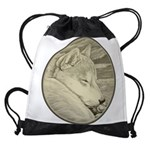Shiba Inu Dog Art Drawstring Bag