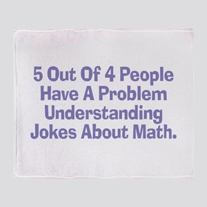 Math Jokes Throw Blanket