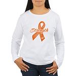 Stength Ribbon Leukemia Women's Long Sleeve T-Shir