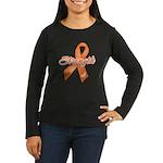 Stength Ribbon Leukemia Women's Long Sleeve Dark T