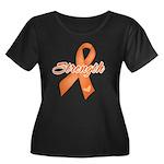Stength Ribbon Leukemia Women's Plus Size Scoop Ne