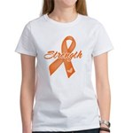 Stength Ribbon Leukemia Women's T-Shirt