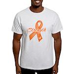 Stength Ribbon Leukemia Light T-Shirt