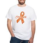 Stength Ribbon Leukemia White T-Shirt