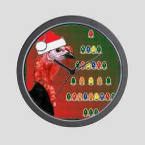 Turkey For Christmas Wall Clock