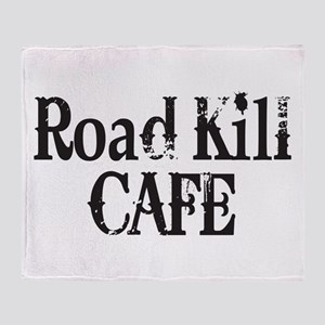Road Kill Cafe Throw Blanket