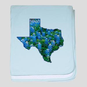 TX Bluebonnets baby blanket